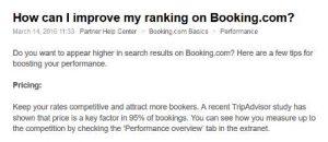 unaprijediti ranking na booking.com
