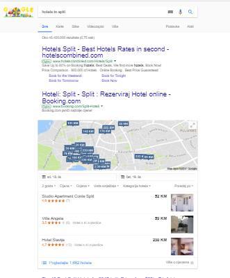 Google hotel ads na mobilnim uređajima