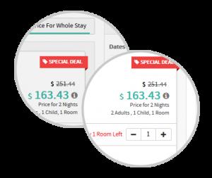 prikaz cijena i popusta na web stranici hotela