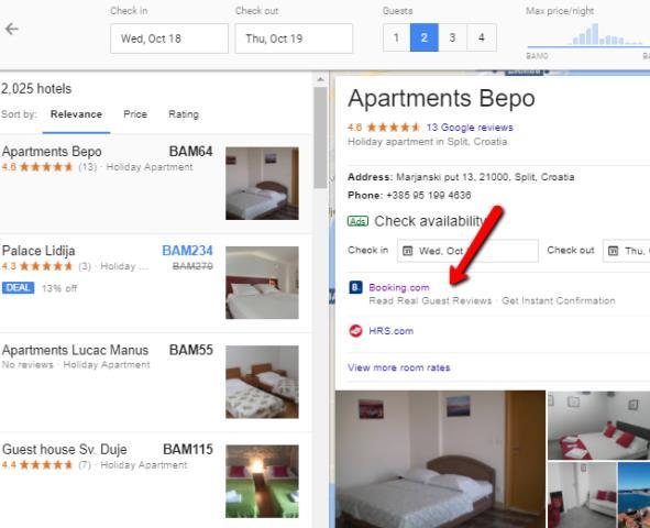 oglašavanje apartmana na Google