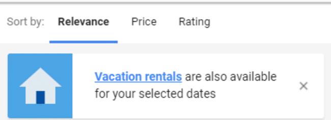 odabir obiteljskog smještaja na Google-u