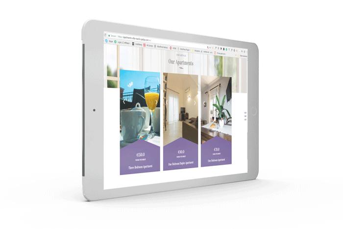 web stranice za apartmane primjer