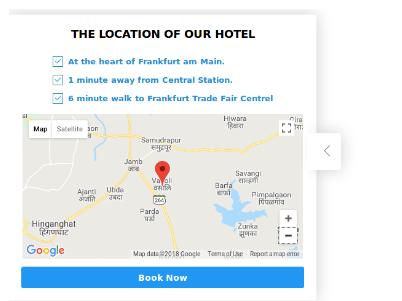 Upute za vozače na vašoj web stranici prikaz mape