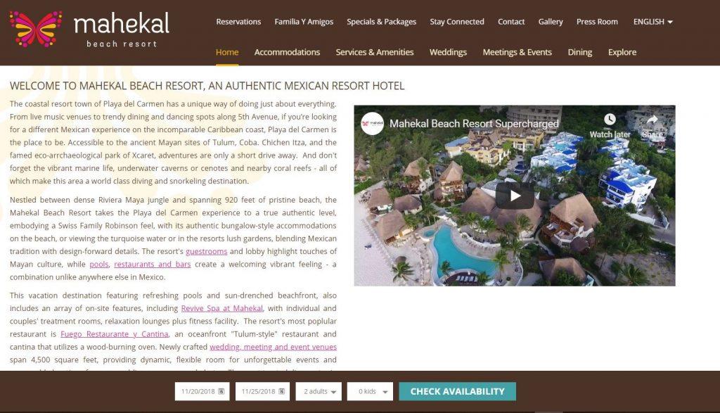 primjer najbolje web stranice za hotele