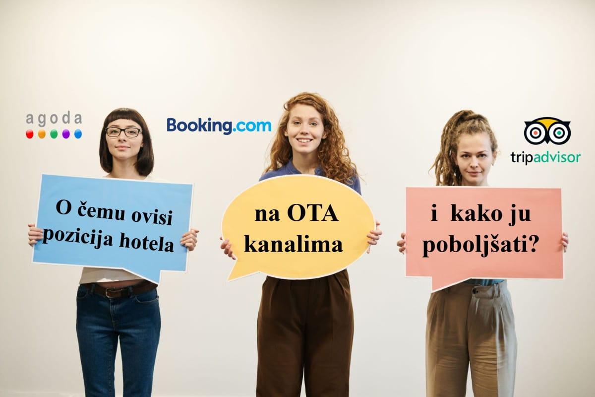 O čemu ovisi pozicija hotela na OTA kanalima i kako ju poboljšati?