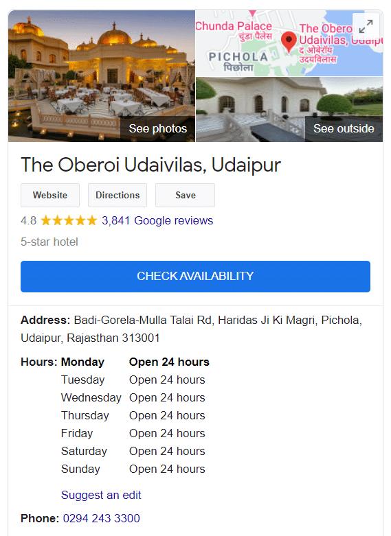Uz detaljan opis marke i vidljivu sliku vašeg hotela, Google pretraga hotela bolje rangira vašu imovinu.