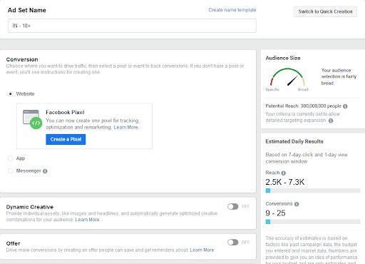 Stvorite naziv Facebook oglasa