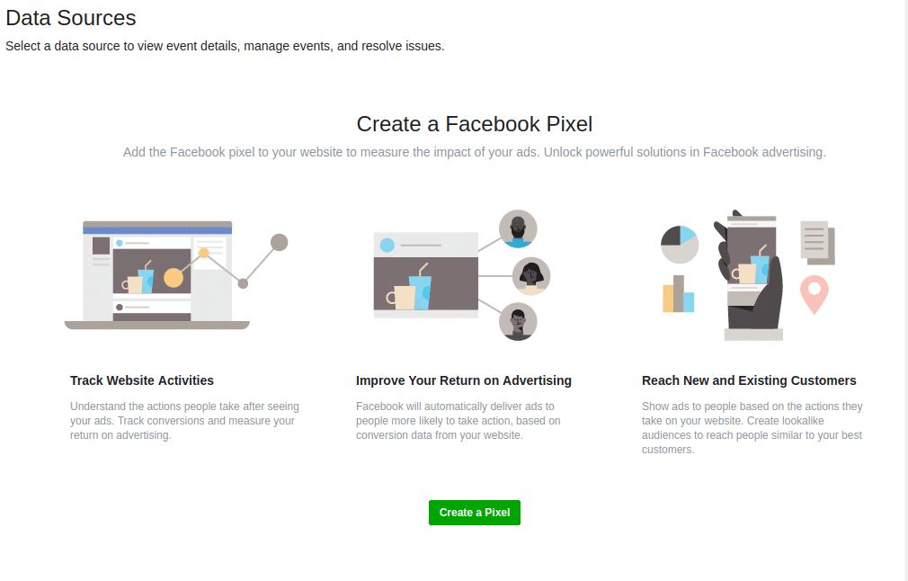 Stvaranje Facebook pixel koda.