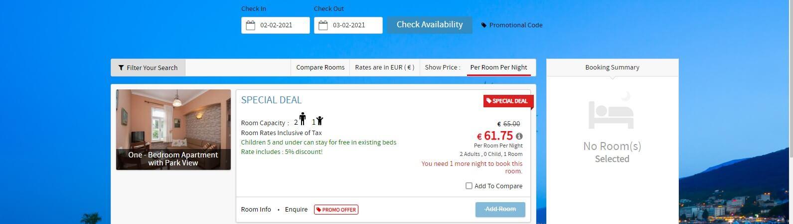 Integriranje mehanizma za rezervacije omogućuje vašim gostima izravnu rezervaciju s web stranice hotela.
