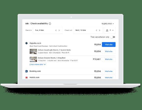 Googleova veza za besplatnu rezervaciju